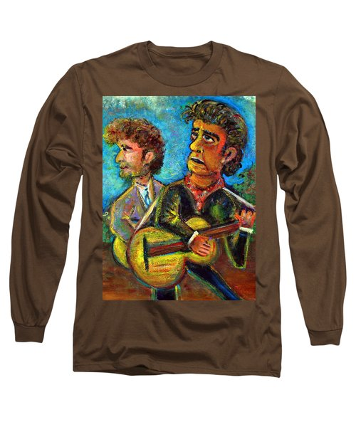 Girl From North Country Johnny Cash And Bob Dylab Long Sleeve T-Shirt by Jason Gluskin