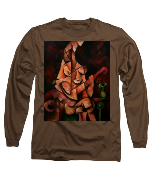 Girl With Guitar Long Sleeve T-Shirt by Kim Gauge