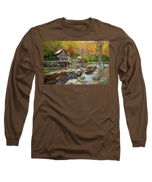 Glade Creek Grist Mill In Autumn Long Sleeve T-Shirt