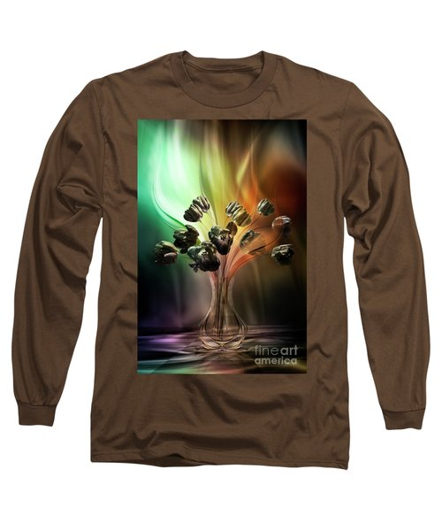 Long Sleeve T-Shirt featuring the digital art Glasblower's Tulips by Johnny Hildingsson