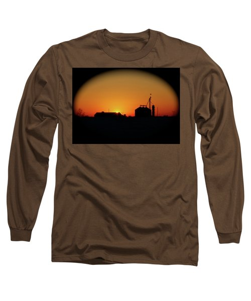 Global Sunset Long Sleeve T-Shirt by Sue Stefanowicz