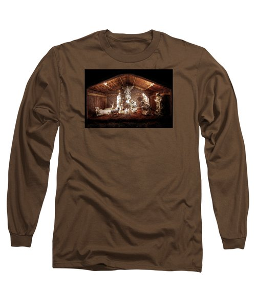Glory To The Newborn King Long Sleeve T-Shirt by Shelley Neff
