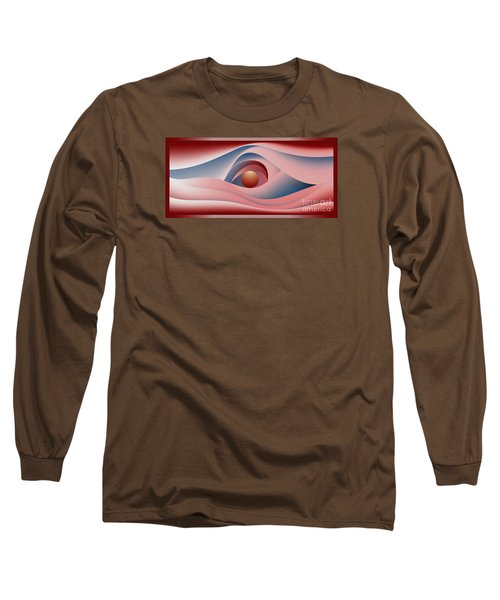 Glow Over The Sea Long Sleeve T-Shirt by Leo Symon