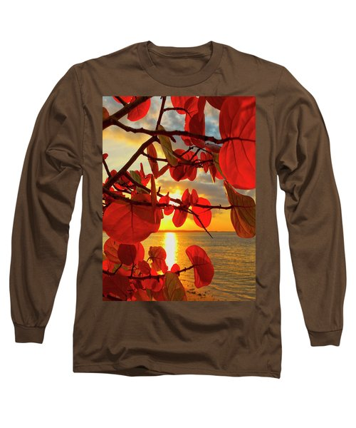 Glowing Red Long Sleeve T-Shirt