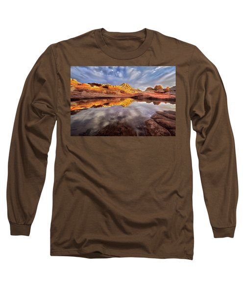 Glowing Rock Formations Long Sleeve T-Shirt by Nicki Frates