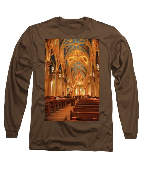 God Do You Hear Me Long Sleeve T-Shirt by Ken Smith