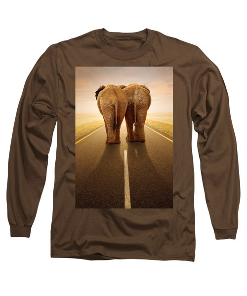 Going Away Together / Travelling By Road Long Sleeve T-Shirt by Johan Swanepoel