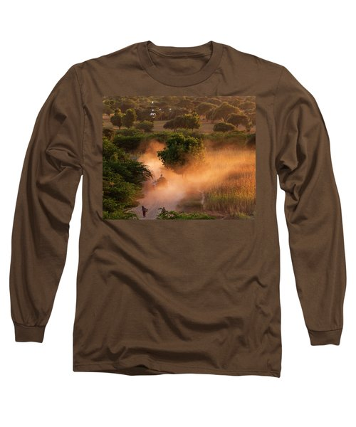 Going Home At Sunset Long Sleeve T-Shirt