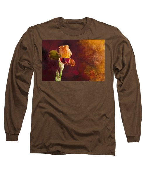 Gold And Red Iris Long Sleeve T-Shirt