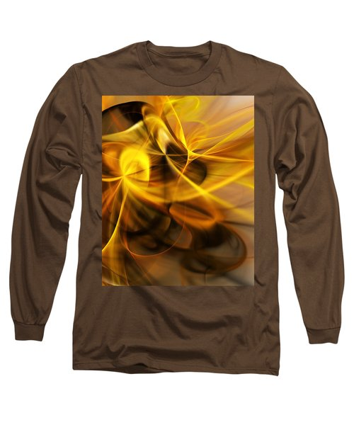 Gold And Shadows Long Sleeve T-Shirt