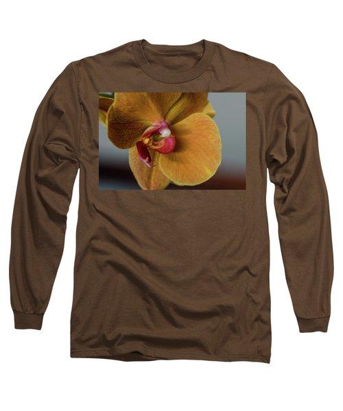 Gold Flower Blossom Long Sleeve T-Shirt