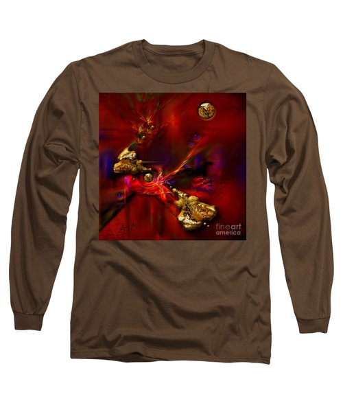 Long Sleeve T-Shirt featuring the painting Gold Foundry by Alexa Szlavics