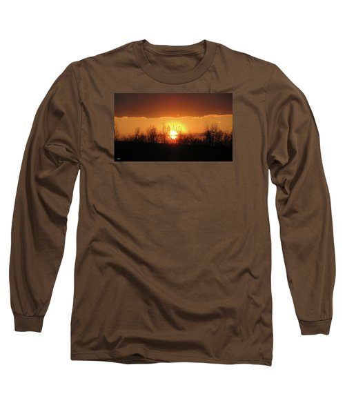 Golden Arch Sunset Long Sleeve T-Shirt by Debra     Vatalaro