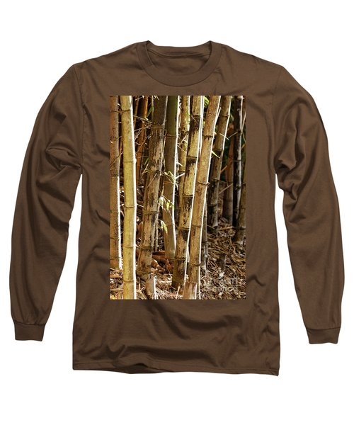 Long Sleeve T-Shirt featuring the photograph Golden Canes by Linda Lees