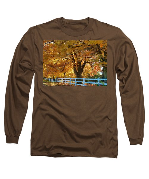 Long Sleeve T-Shirt featuring the photograph Golden Curtain by Robert Pearson