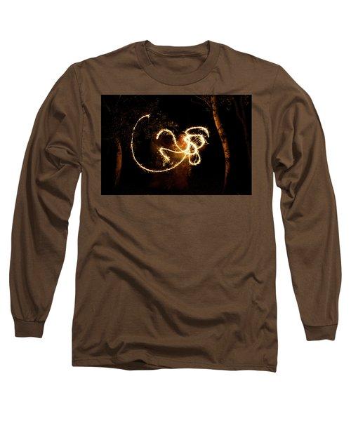 Golden Dragon Long Sleeve T-Shirt by Ellery Russell