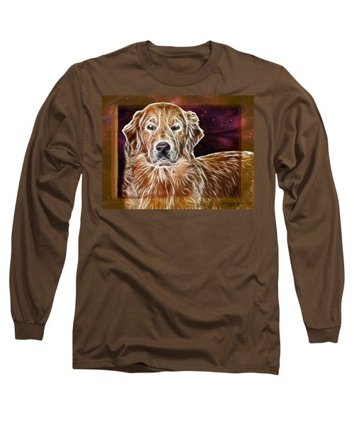 Golden Glowing Retriever Long Sleeve T-Shirt by EricaMaxine  Price
