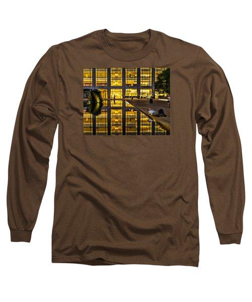 Golden Grid Long Sleeve T-Shirt by Jeffrey Friedkin