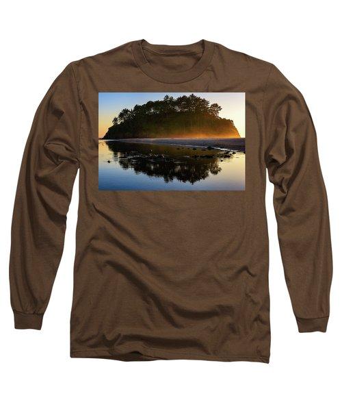 Golden Hour Haze At Proposal Rock Long Sleeve T-Shirt