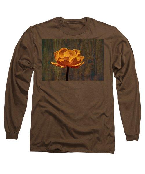 Golden Orange #g0 Long Sleeve T-Shirt by Leif Sohlman