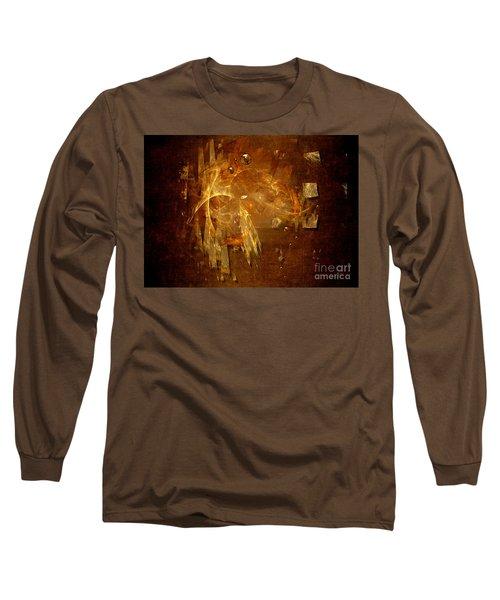 Long Sleeve T-Shirt featuring the digital art Golden Rain by Alexa Szlavics
