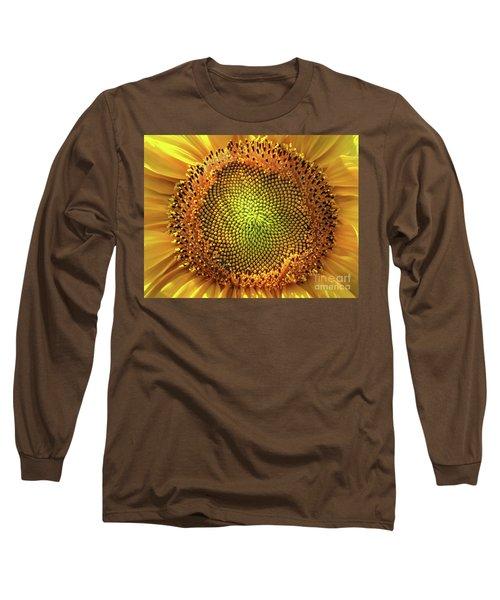 Golden Spiral Seed Arrangement Long Sleeve T-Shirt