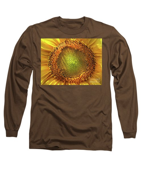 Golden Spiral Seed Arrangement Long Sleeve T-Shirt