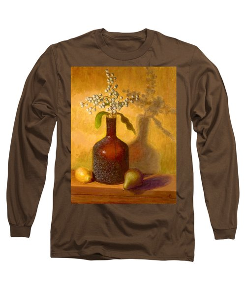 Long Sleeve T-Shirt featuring the painting Golden Still Life by Joe Bergholm