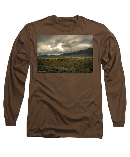 Long Sleeve T-Shirt featuring the photograph Golden Storm by Andrew Matwijec