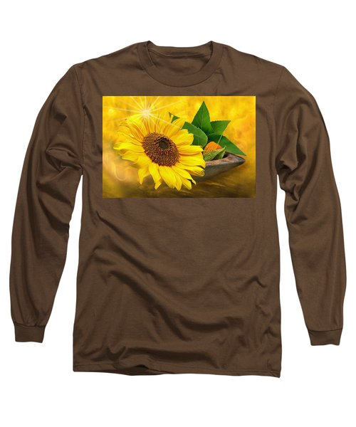 Golden Sunflower Long Sleeve T-Shirt