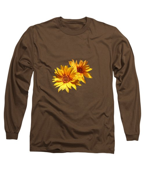 Golden Sunflowers Long Sleeve T-Shirt