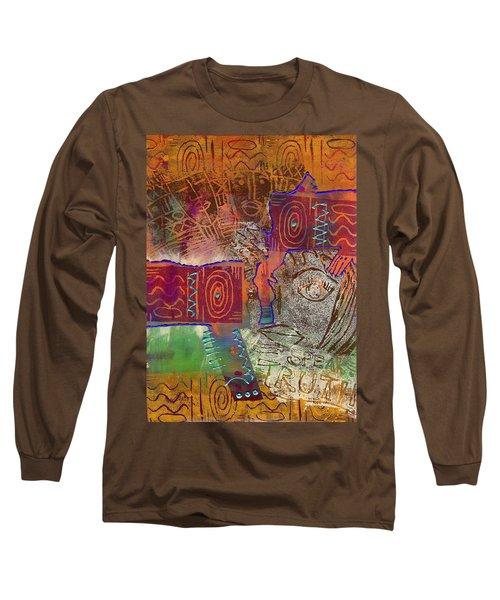 Golden Truth Long Sleeve T-Shirt by Angela L Walker