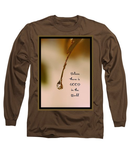 Long Sleeve T-Shirt featuring the mixed media Good In The World by Trish Tritz