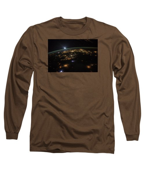 Good Morning From The International Space Station Long Sleeve T-Shirt