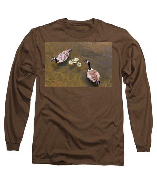 Goose  Gander And Goslings Long Sleeve T-Shirt