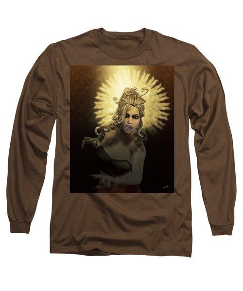 Gorgon Medusa Long Sleeve T-Shirt by Joaquin Abella