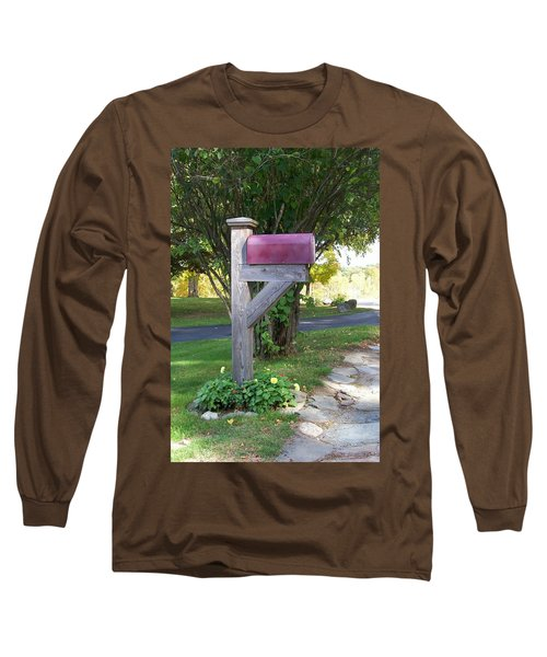 Long Sleeve T-Shirt featuring the digital art Got Mail by Barbara S Nickerson