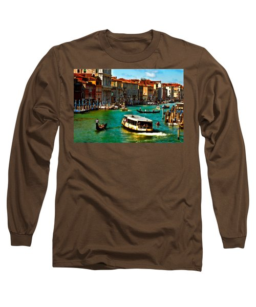 Grand Canal Daytime Long Sleeve T-Shirt by Harry Spitz