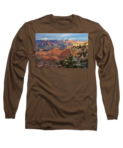 Grand Canyon View Long Sleeve T-Shirt by Debby Pueschel