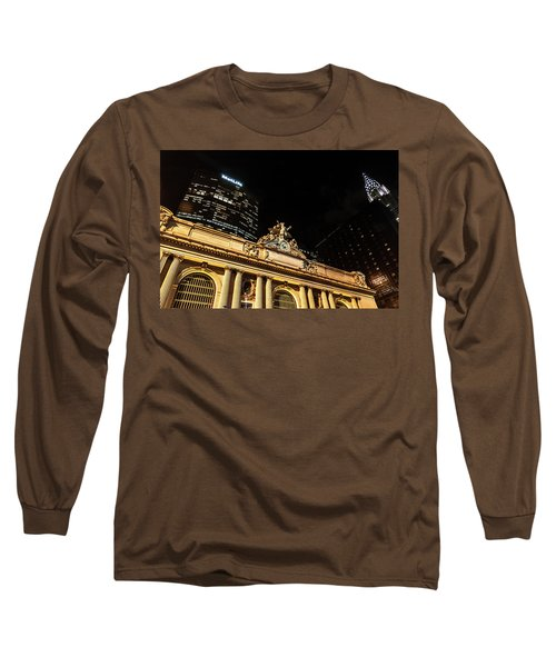 Grand Central Nocturne Long Sleeve T-Shirt by Steven Richman