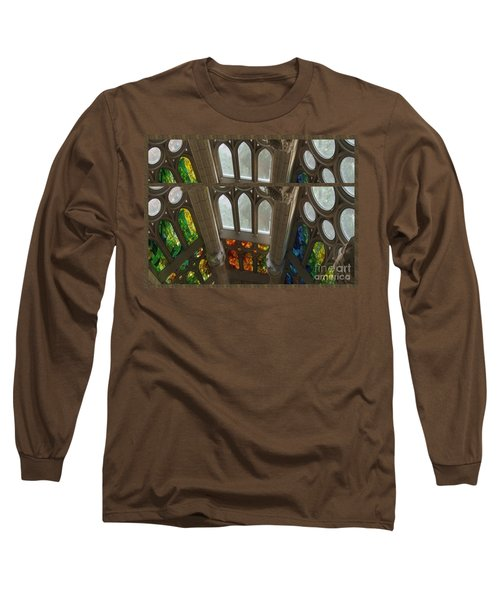 Graphic Art From Photo Library Of Photographic Collection Of Christian Churches Temples Of Place Of  Long Sleeve T-Shirt by Navin Joshi
