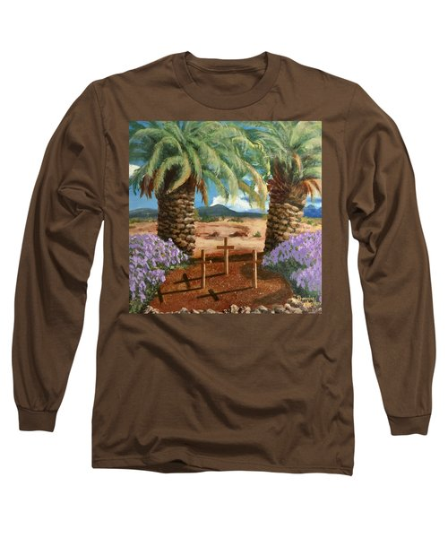 Long Sleeve T-Shirt featuring the painting Gratitude Reminder  by Bonnie Heather