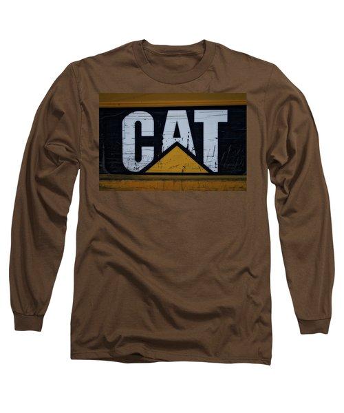 Gravel Pit Cat Signage Hydraulic Excavator Long Sleeve T-Shirt