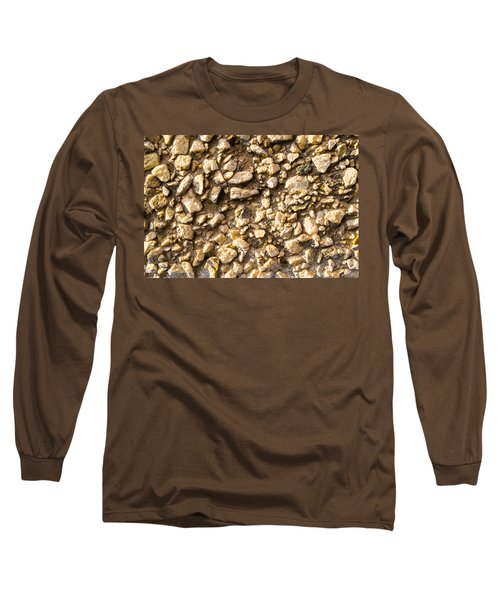Gravel Stones On A Wall Long Sleeve T-Shirt by John Williams