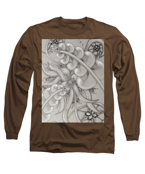 Gray Garden Explosion Long Sleeve T-Shirt by Jan Steinle