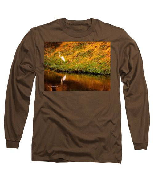 Great Egret At The Lake Long Sleeve T-Shirt