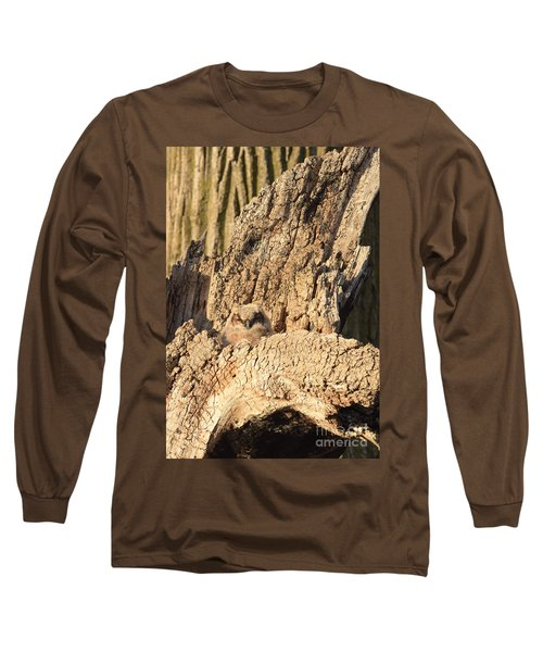 Great Horned Owlet Two Long Sleeve T-Shirt