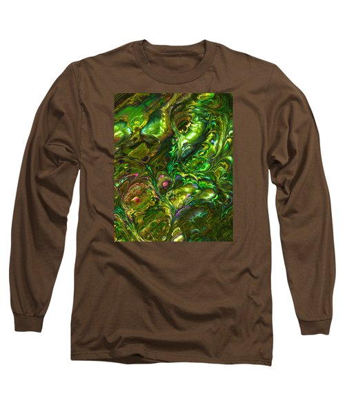 Green Abalone Abstract Long Sleeve T-Shirt