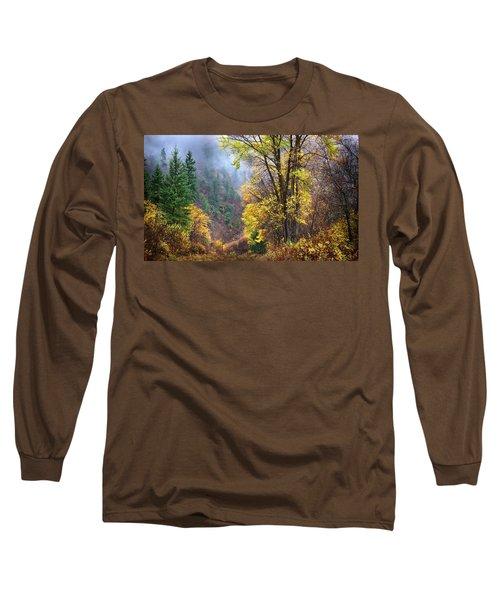 Green Mountain Fall Long Sleeve T-Shirt by John Poon