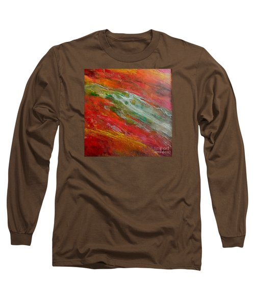 Long Sleeve T-Shirt featuring the painting Green River by Dragica  Micki Fortuna